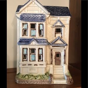 Charming Ceramic Candlelight Townhouse